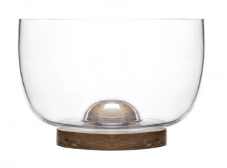 Oval oak bowl