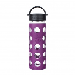 Lifefactory 16 oz Glass Bottle Core 2.0 - Plum