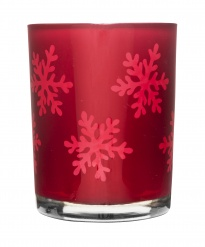 Winter tealight holder red
