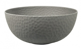 Large Bowl HAMMERED Stone Grey