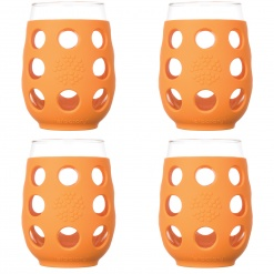 Lifefactory 17oz Wine Glass - 4pk - Orange