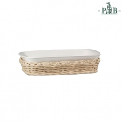 WICKER FOR ANGHIARI BAKING DISHcm26x15