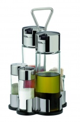 Oil,Vinegar, Salt, Pepper And Toothpicks Set Club
