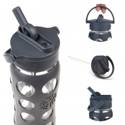 16oz / 475ml Straw Cap Carbon