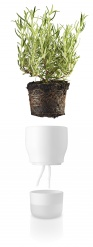 Self watering plant pot 11cm Chalk white