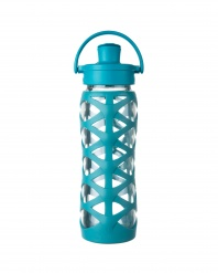 Lifefactory 22 oz Glass Bottle with Active Flip Cap - Ultramarine