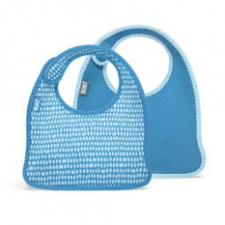 Mess Mate: Infant Bib (Set of 2) Dribble Dots Blue