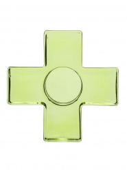 Cross candleholder, green