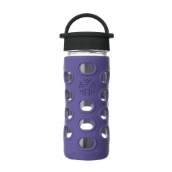 Lifefactory 12 oz Glass Bottle Core 2.0 - Iris