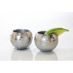 Stainless Steel Sphere shot glasses