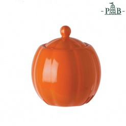 VILLADEIFIORI SUGAR BOWL W/LCC300 ORANGE