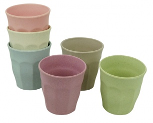 CUPFUL OF COLOUR medium cups set/6 DWN