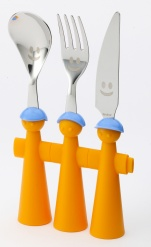 Puppet 3Pc Cutlery Orange
