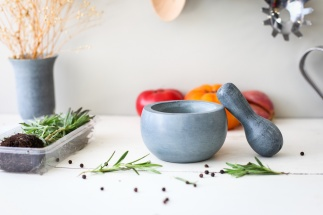Soapstone Mortar and Pestle -  Sphere (Medium)