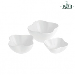 CONVIVIO SET 3 FLOWER SHAPE BOWLS GB
