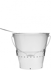Bucket grill large, white