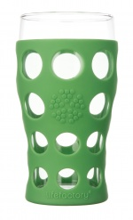 Lifefactory 20oz Beverage Glass - 2pk - Grass Green