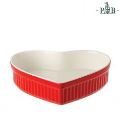 CUPIDO HEART BAKING DISH CM 25X24 GB RED