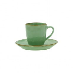 CONCERTO (Tiffany Green) VERDE ACQUA Espresso Cup with saucer Cap. 90 cc