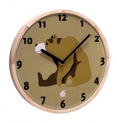 WALLCLOCK Brown Bear