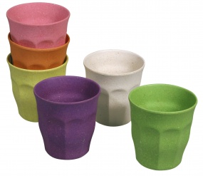 CUPFUL OF COLOUR cups set of 6 Rainbow assorted