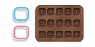 Chocolate Mould Set With Cookie Cutters, Counting Delicia Kids