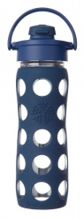 Lifefactory 16oz Glass Bottle with Flip Cap - Midnight Blue