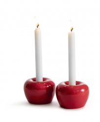 """Apple"" Candleholder Small 2-pack Red"