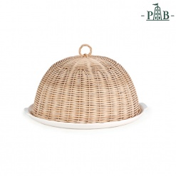 (#) Wicker Cloche Cm 28