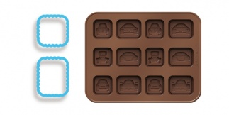 Chocolate mould set, little cars