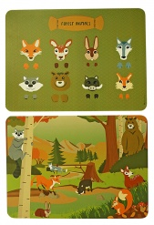 PLACEMAT Forest Animals mix set/2