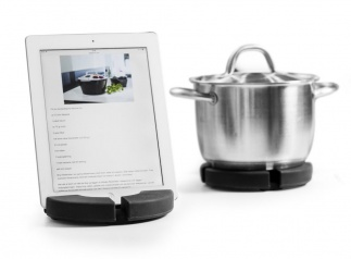 Cook n read trivet/stand for tablet, grey
