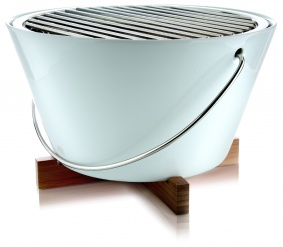 Table grill porcelain white