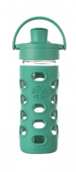 12oz/350ml Glass Bottle with Active Flip Cap - Kale