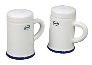 Cabanaz SALT & PEPPER SHAKER set/2 WH
