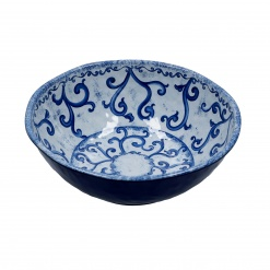BLUE SALAD BOWL MELAMINE cm 28