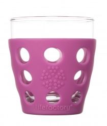 Lifefactory 10oz Beverage Glass - 2pk - Huckleberry