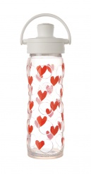 16oz/475ml Glass Bottle with Active Flip Cap - Tru Luv