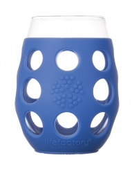 Lifefactory 11oz Wine Glass - 2pk - Cobalt