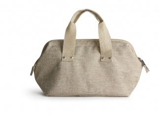 Nautic cooler bag small linen