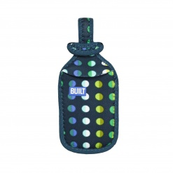 Luggage Tag & Handle Grip Emerald Dot