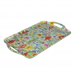 Flores Rectang. Tray Melam.W/H Cm49X29,5