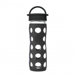 Lifefactory 16 oz Glass Bottle Core 2.0 - Onyx Black