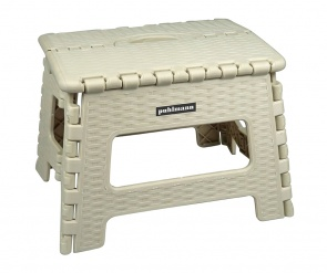 JAMES Rattan look foldable stool White