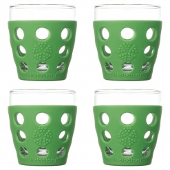 Lifefactory 10oz Beverage Glass - 4pk - Grass Green