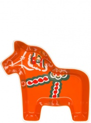 Dala horse serving bowl