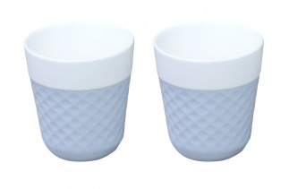 Lola 2 porcelaine tea cups - blue
