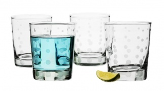 Aqua drop glass 4-pack