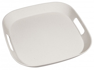 FOURSQUARE SERVING MATE tray Coconut white