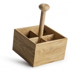 Oak condiment set
